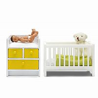 Stockholm Crib, Nursing Table & Baby 2010