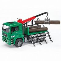 MAN Timber Truck w/ loading crane and 3 trunks