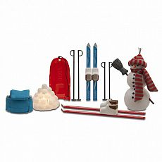 Smaland Winter Ski & Sled Set