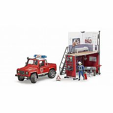 Fire Station w/ Land Rover Defender and Fireman