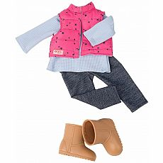 Trekking Vest & Jeggings Outfit 18