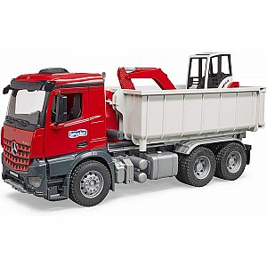 Mb Arocs Truck With Roll-off-Container w/ Mini Excavator