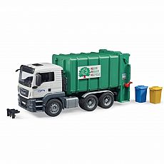 MAN TGS Rear Loading Garbage Truck Green