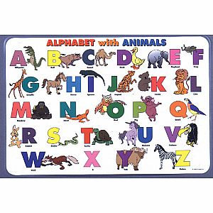 Alphabet w/ Animals Placemat
