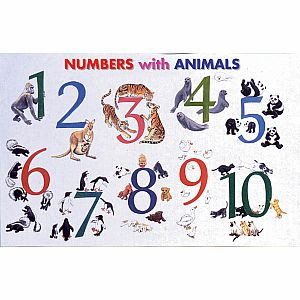 Numbers with Animals Placemat