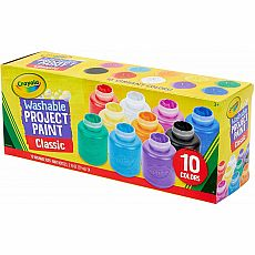 Crayola Washable Kids Paint, 10 Classic Colors