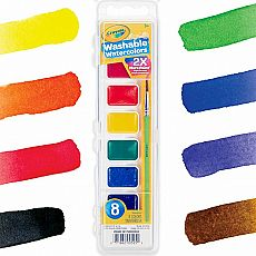 Washable Watercolors 8 pans
