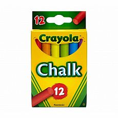 Multi-Colored Chalk, 12ct
