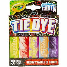 Washable Tie-Dye Sidewalk Chalk 5ct