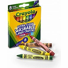 Large Washable Crayons 8ct