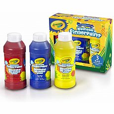 Washable Finger Paint Primary Colors, 3ct