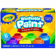 Crayola Washable Kids Paint, 6 Count