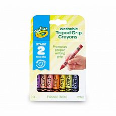 My First Washable Tripod Crayons 8ct