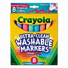 Washable Tropical Colors Markers 8ct