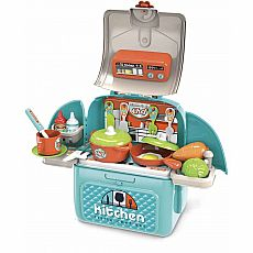 Chef Kitchen in a Backpack Playset