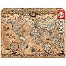 Antique World Map 1000pc Educa Puzzle
