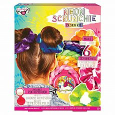 Neon Tie Dye Hair Scrunchie Set