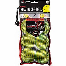 "MLB 9"" Indestruct-A-Ball Baseball 6pk Yellow"