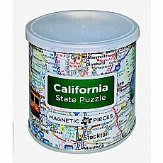 100pc Magnetic California Puzzle