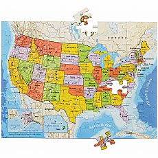 100pc Magnetic USA Puzzle