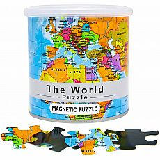100pc Magnetic World Map