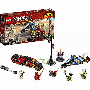 Kai's Blade Cycle & Zane's Snowmobile Ninjago