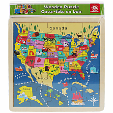 USA Wooden Map Puzzle 25pc