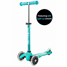 Mini Aqua LED Micro Deluxe Scooter