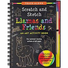 Scratch and Sketch Llamas and Friends