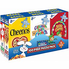 Cereal Box Mini Puzzle 6 pack, 100pc