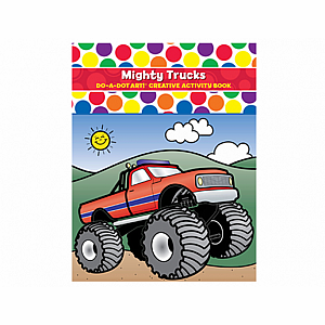 Mighty Trucks Do A Dot Coloring Book