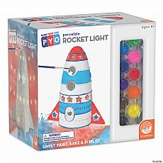 Rocket Light Paint Your Own Porcelain