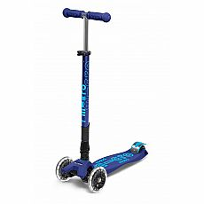 Foldable Navy Blue LED Maxi Deluxe Scooter